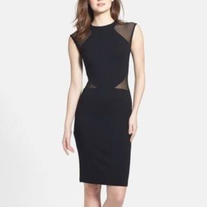French Connection LBD w/Sheer Cut Outs